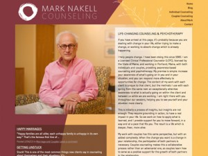 Mark Nakell Counseling website, letterhead package