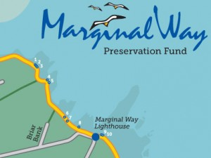 Marginal Way Preservation Fund website, printable map, Google mashup, direct mail